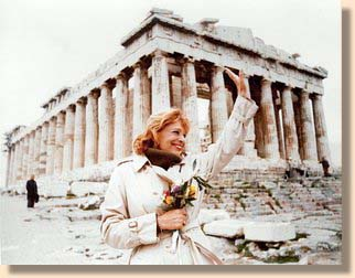 Melina at the Acropolis